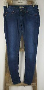 Free People women 26 skinny jeans denim blue