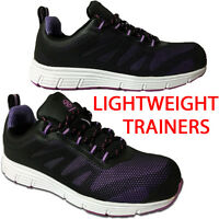 Steel Toe Cap Safety Trainers Lightweight Boot Shoes Work Ladies Boots 3-9 Uk