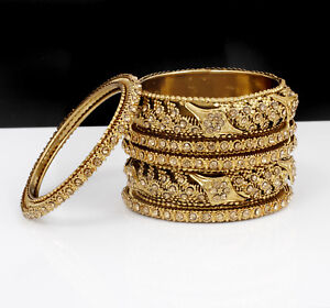 Jewelry & Watches Bridal & Wedding Party Jewelry 18k Goldplated Bollywood Ethnic 2pc Necklace Earring Set Wedding Jewellery Quality And Quantity Assured