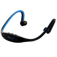 Kabellos Bluetooth Headset Music Kopfhörer Stereo für iPhone 6S Sony HTC Blau