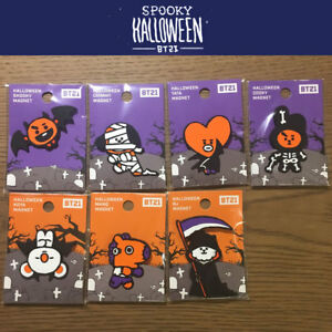 BTS-BT21-Official-Authentic-Goods-Silicone-Magnet-Halloween-Ver-7SET-Track-Num