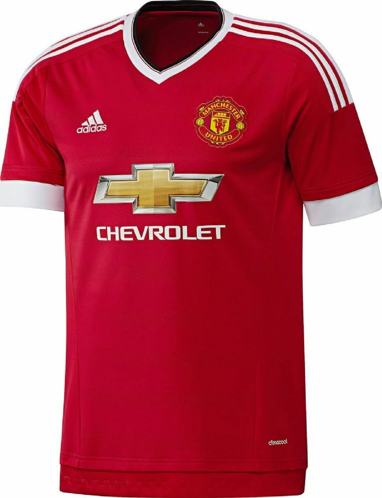Adidas Manchester United Heim Trikot Gr. S - Farbe red - 2015-16