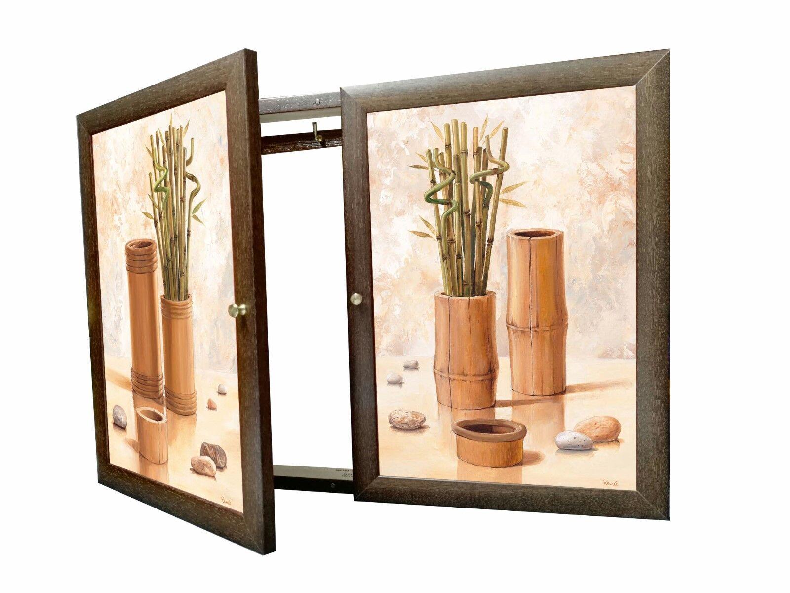 Tapa contador cuadro de luz Moldura c cuelga llaves 2 puertas,m ext.34X48X5'7 cm
