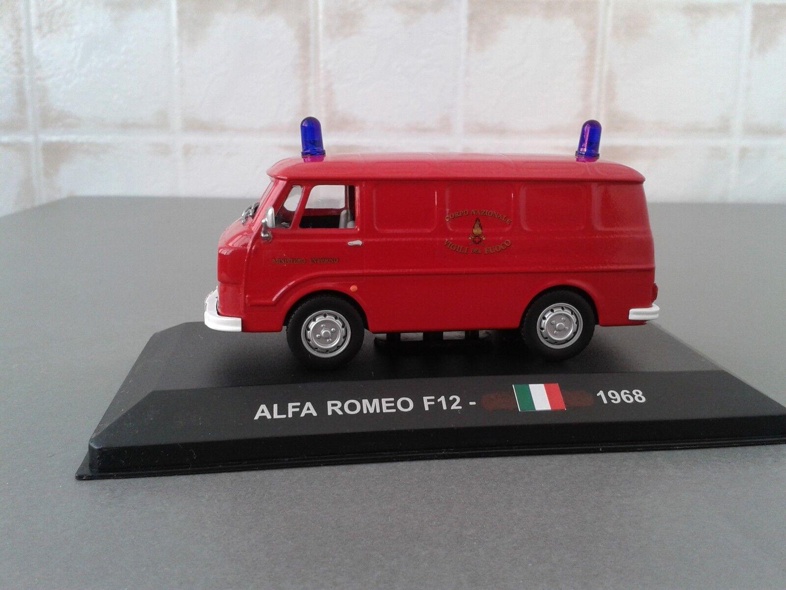 VIGILI DEL FUOCO -POMPIERI -FIRE ENGINE- ALFA ROMEO F12 - MEZZO STORICO  1/43