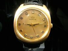 MARVIN NEU/NEW CONDITION ViNTAGE SWISS MECHANICAL MEN'S WATCH GOLD-PLATED