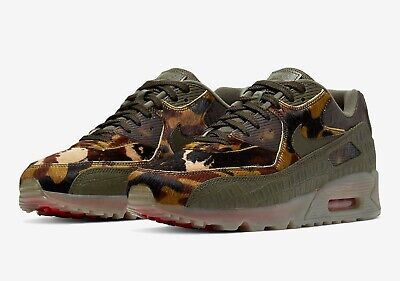 Nike Air Max 90 Croc Camo Cu0675 300 Cargo Khaki University Red US 11