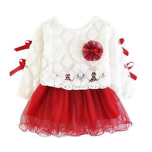 Clothing, Shoes & Accessories Orderly Ragazze 2 Pezzi Lungo Maniche Abito Da Festa Rosa Borgogna Lilla 12-18 To To Ensure Smooth Transmission
