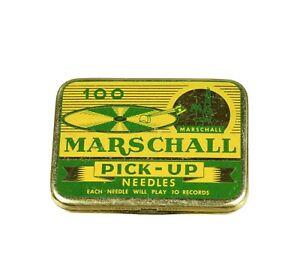 MARSCHALL-Nadeldose-Grammophonnadeldose-Blechdose-alt-needle-tin-gramophone