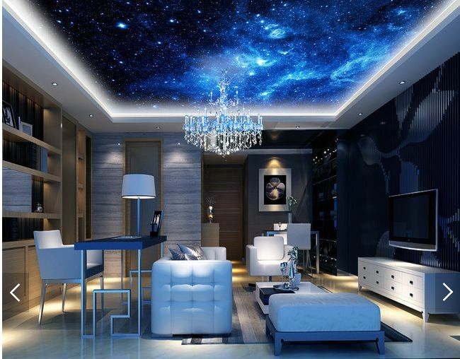 3D Blau-schwarze Universum Fototapeten Wandbild Fototapete BildTapete Familie DE