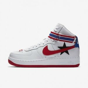 977d05c9724 NIKE AIR FORCE 1 HI X RICCARDO TISCI RT - WHITE RED - AQ3366 100 ...