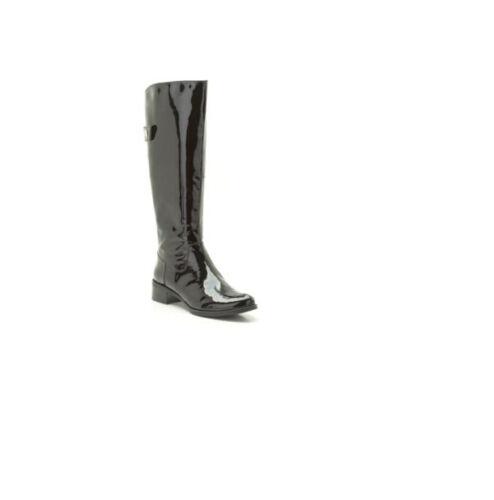 CLARKS **Kildale Drama Black Patent**Knee-High Women/'s Boots UK3 RRP £100