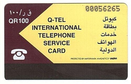 Qatar Magnetic Phonecard Autelca Usagée//Used QTR05