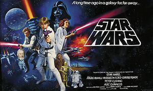 Image Is Loading STAR WARS WALL MURAL Classic Movie Poster Prepasted