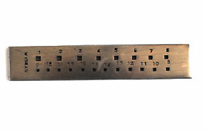 Proops-Jewellers-6-034-Square-20-Hole-Drawplate-Wire-Drawing-Wrapping-J1016
