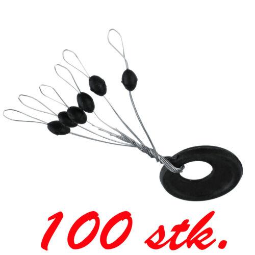 100 X Gummistopper Posenstopper Schnurstopper Größe M art 016