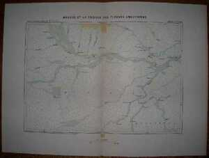 1894 Reclus map MANAUS AND THE CROSSING OF AMAZONIAN RIVERS, BRAZIL (#1)