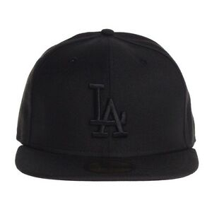 New Era Cap 59FIFTY LA DODGERS Black on Black All Sizes MLB New Era ... beef49e687a2