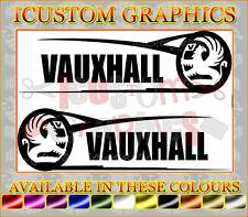 Vauxhall lato grafica x2 Corsa Astra Opel Logo Auto Vinile Adesivo Rally STOCK