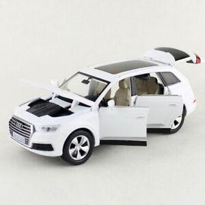 Audi-Q7-SUV-1-32-Die-Cast-Modellauto-Auto-Spielzeug-Kinder-Model-Sammlung-Weiss