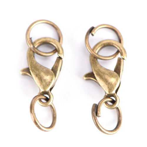 20xSet New Alloy Lobster Clasps Claw Jewelry Hook Making DIY Necklace BraceletMA
