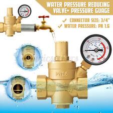 Dn20 34 Adjustable Brass Water Pressure Regulator Valve Reducer With Gauge