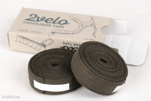 2Velo TOP COTTON Vintage HANDLEBAR TAPE brown