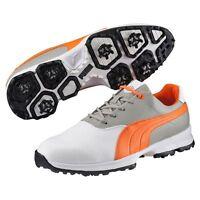 Puma Ace Golf Shoes White/vibrant Orange/drizzle (wide) 7927