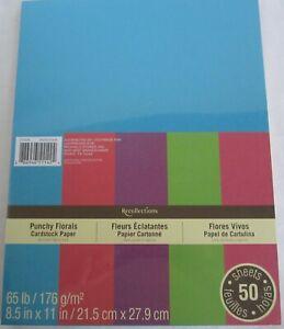Recollections-Cardstock-Carta-8-1-5-1cm-x-27-9cm-50-Fogli-29-5kg-Punchy-Florals