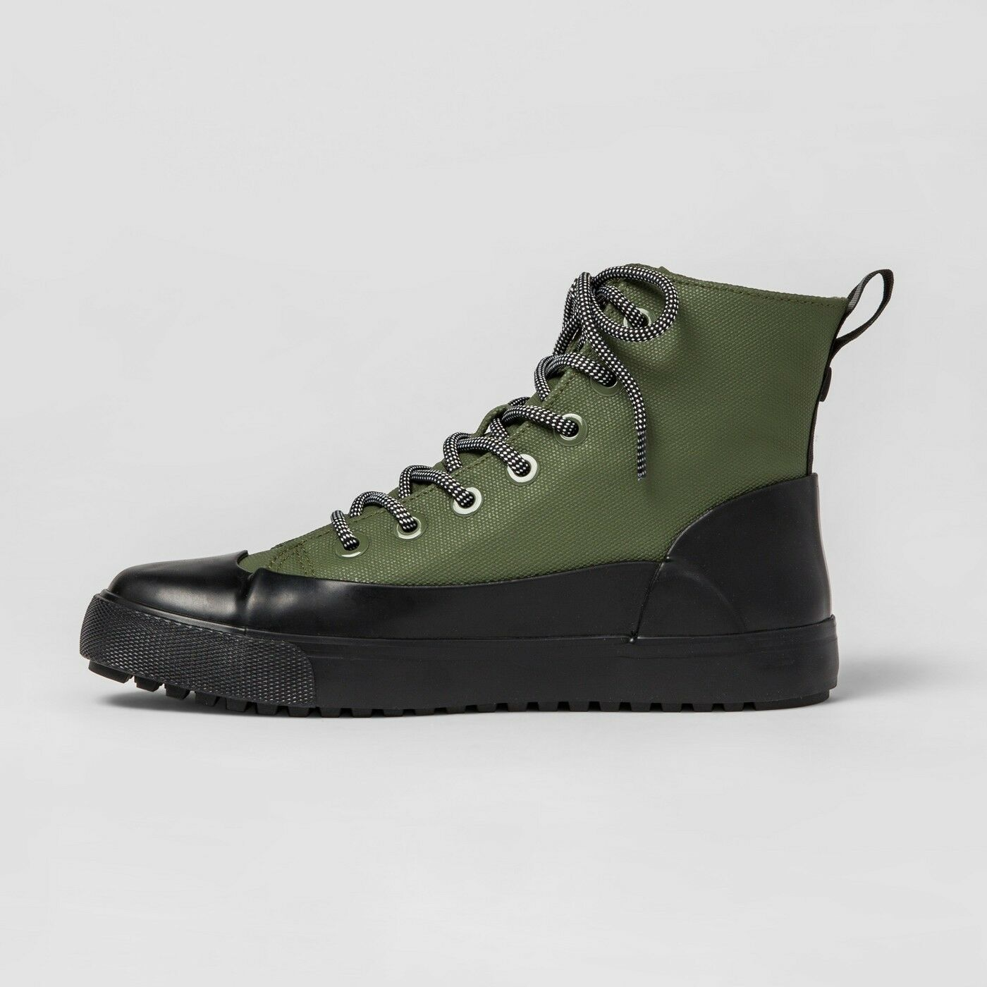 Hunter for Target Adult Unisex Dipped Canvas High Top Sneaker Olive M -13  W -15