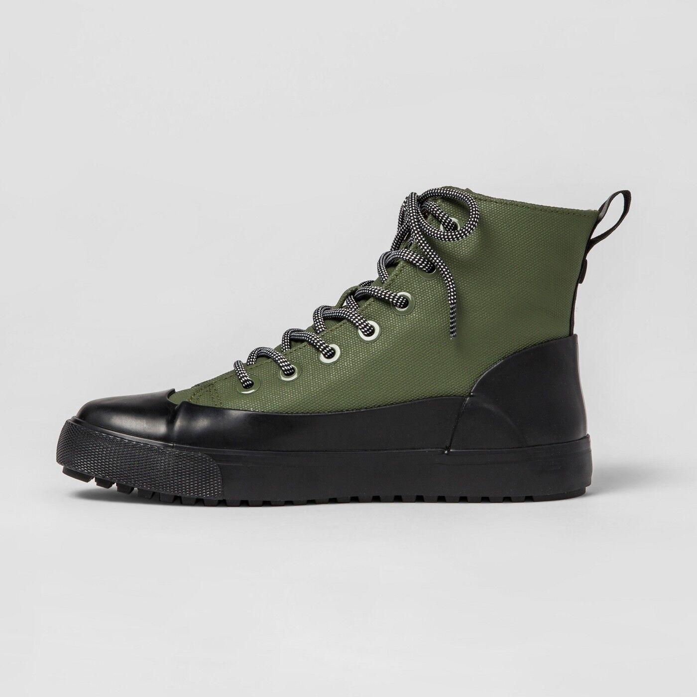 Hunter per l'adulto con scarpe alte unisex tela oliva m - 14 / w - 12