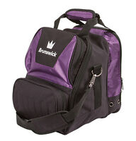 Brunswick Crown Black/purple 1 Ball Bowling Bag