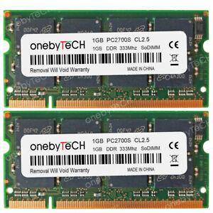 2GB-2x1GB-PC2700-DDR1-333-Memory-For-Dell-Latitude-D800-X300-D400-D505-D600-100L
