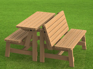 Convertible Benches To Picnic Table Combination Building Plans Ebay