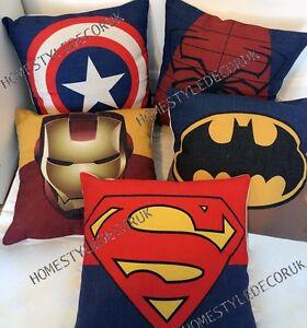 Calidad-de-los-Vengadores-superheroe-cotton-linen-cubierta-Cojin-Cojin-Funda-Kid-habitacion