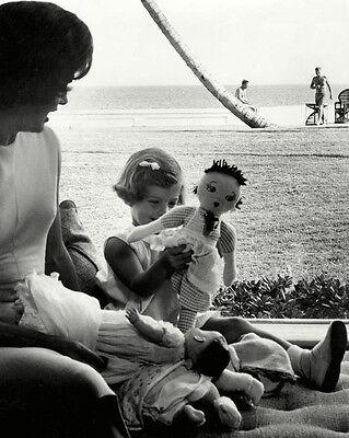 8X10 PHOTO ROBERT AND EDWARD KENNEDY IN THE SURF AT PALM BEACH CC-110 JOHN