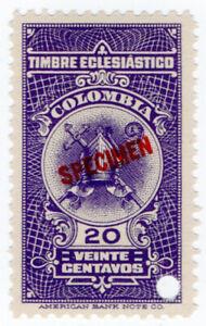 I-B-Colombia-Revenue-Church-Tax-20c-ABN-Specimen