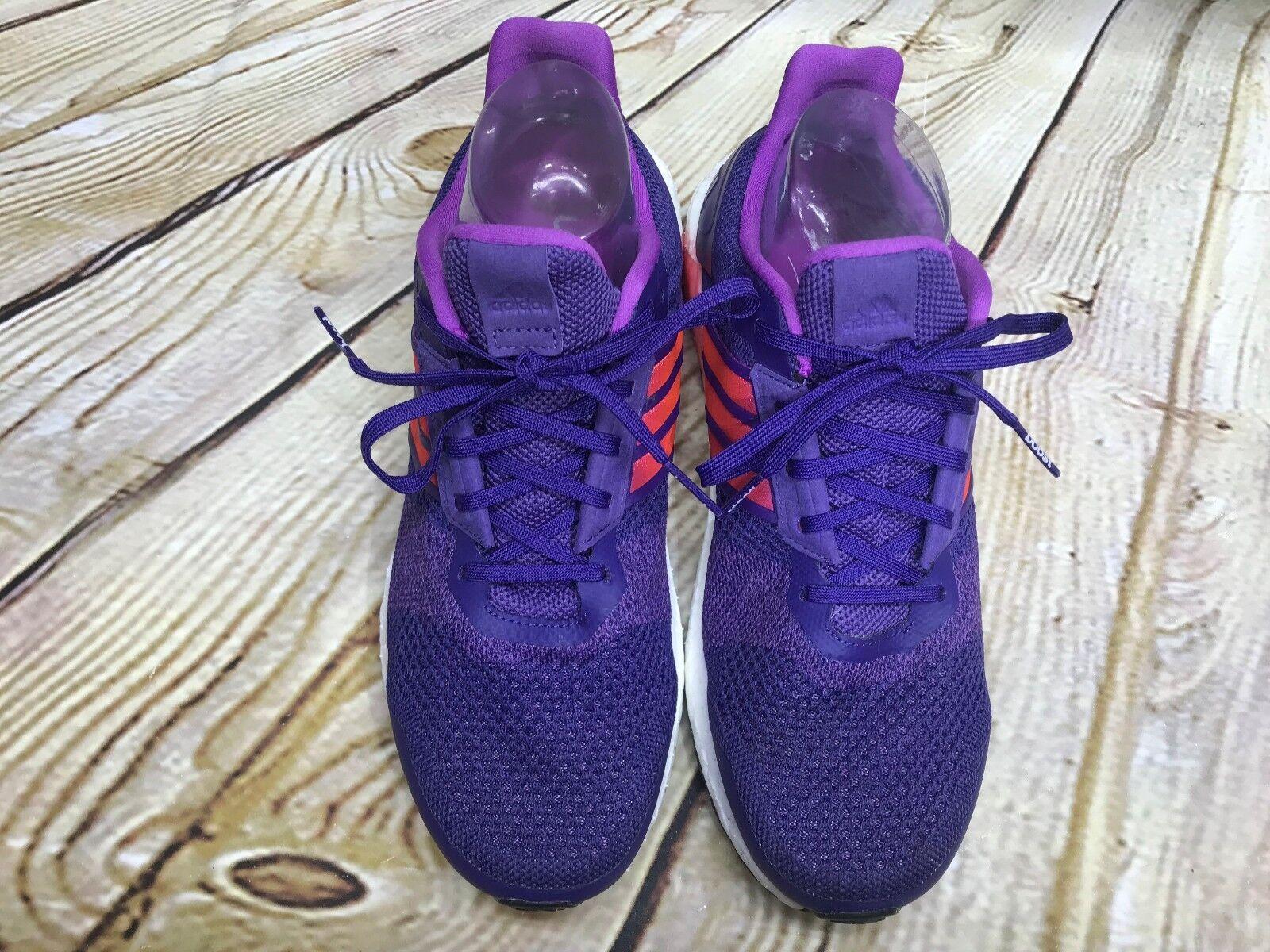 Adidas Ultra Boost 9.5 Purple/Pink EUC Continental Soul Running Stability Sneake