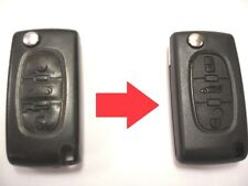 Repair service for Citroen C4 C5 C6 C8 3 button remote flip key + new case