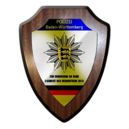 Wappenschild Polizei Baden-Württemberg Erinnerung Schicht Dienstzeit #25869