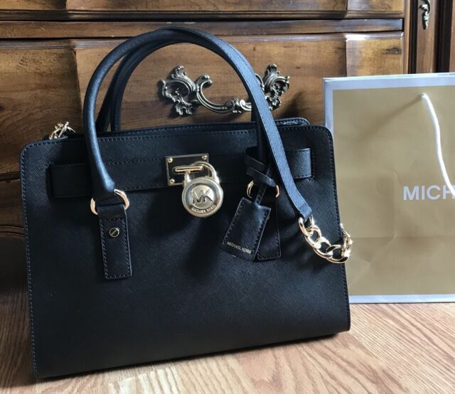 New 298 Michael Kors Hamilton Saffiano Leather Handbag Mk Bag Purse