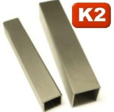 25x25 x2,0 Edelstahl,Vierkantrohr,Quadratrohr,geschliffen,L=0,5-1,95 m,V2A,Rohr