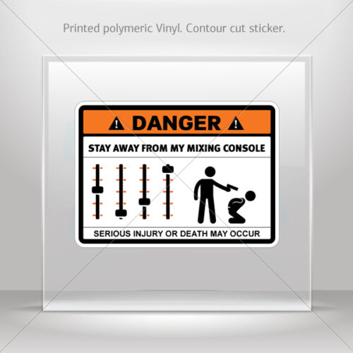 Decals Sticker Danger Funny Stay Away From My Sound Control car st5 X37W7