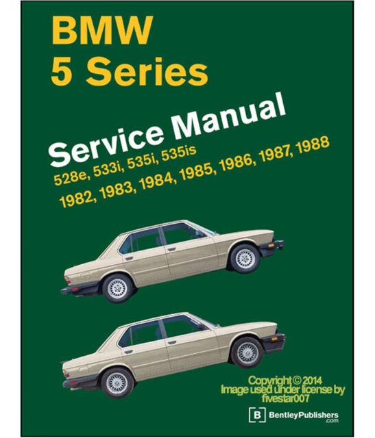 bentley diagram book repair guide service manual for e28 bmw 528e 533i 535i  535
