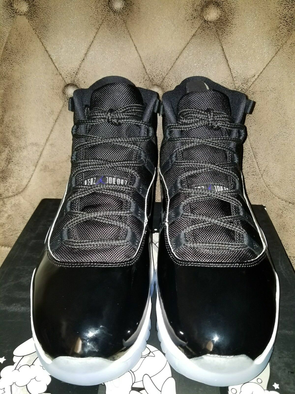 2016 Nike Air Jordan 11 Retro XI Black /Concord-White 378037 003 sz 14