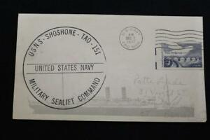 Marine-Abdeckung-1977-SCHIFFS-Stempel-Msc-Cachet-Usns-Shoshone-T-AO-151-3149