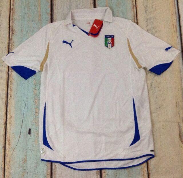 8ccb9e64c PUMA Mens Football Soccer Italy ITALIA FIGC Away Short Sleeve Shirt ...