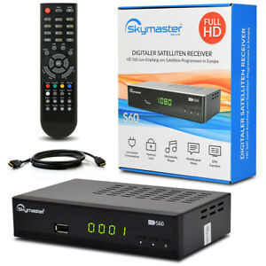 Skymaster FULL HDTV HD Digital Sat Receiver S60 S 60 + HDMI Kabel DVB-S2 USB PVR