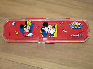 100% Vrai Etui Rangement Stylo Enfant Mickey Kids Disney Soulager La Chaleur Et Le Soleil