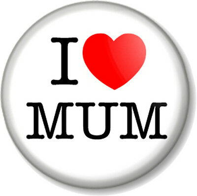 """MOTHER/'S DAY 25mm 1/"""" Pin Badge Button WORLD/'S BEST MUM CELEBRATION PARTY"""