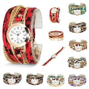 Ladies-Girls-Watch-Fashion-Cute-Floral-Quartz-Bracelet-Leather-Wrist-Watch-Gift